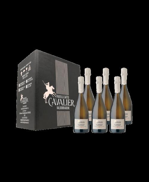confezione da 6 bottiglie VALDOBBIADENE Prosecco Superiore D.O.C.G. MILLESIMATO 2018 DRY