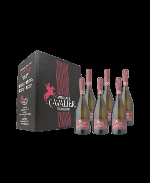 confezione da 6 bottiglie VALDOBBIADENE Prosecco Superiore D.O.C.G. BRUT